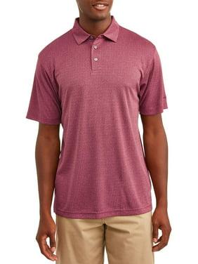 Ben Hogan Men's Performance Short Sleeve Textured Golf Polo Shirt