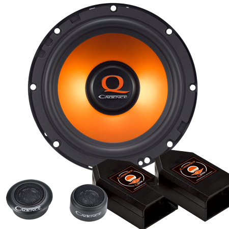 Cadence Acoustics Q65k 300W 6 5  2 Way Q Series Component Car Speaker System   Set Of 2
