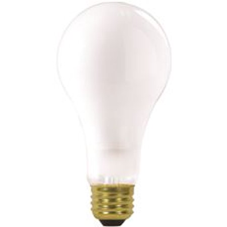 Satco Incandescent Lamp A23 200 Watt, 120 Volt, Medium Base, Frost, 2,500 Average Rated Hours