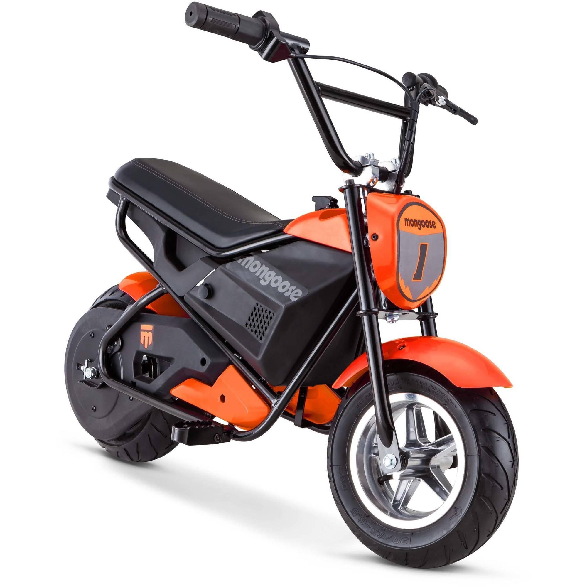 mongoose 24v mini bike orange 038675124103 ebay. Black Bedroom Furniture Sets. Home Design Ideas
