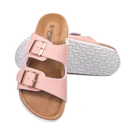 Birkenstock Womens Arizona Suede Sandal (Seranoma Women's Double Buckle Micro Suede Sandal | Classic Ladies Slide)