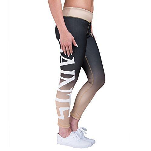 Forever Collectibles NFL Women's New Orleans Saints Gradient 2.0 Wordmark Legging