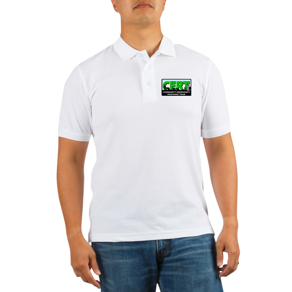 CafePress - Cert Golf Shirt - Golf Shirt, Pique Knit Golf Polo