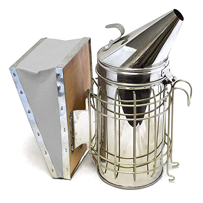Zimtown Smoker Bee Hive Stainless Steel w/Heat Shield Beekeeping Equipment