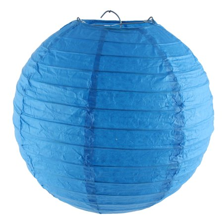 Unique Bargains Christmas Paper Handmade Lantern String  Royal Blue 8 Inches (Royal Blue Paper Lanterns)
