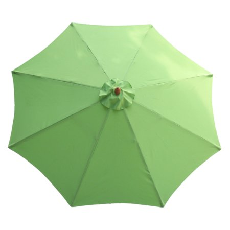 International Concepts Market Umbrella, 9', Wooden Pole, Lime Green ()