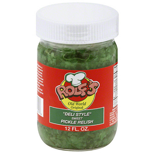 Rolf's Deli Style Sweet Pickle Relish, 12 fl oz, (Pack of 6)