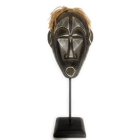 Papua Guinea Tribal Tiki Mask on Stand 16