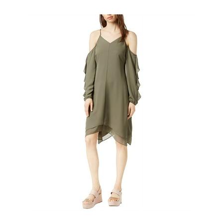 6c17d0a41b4 bar III Womens Cold-Shoulder Asymmetrical Dress black L - image 1 of 1 ...