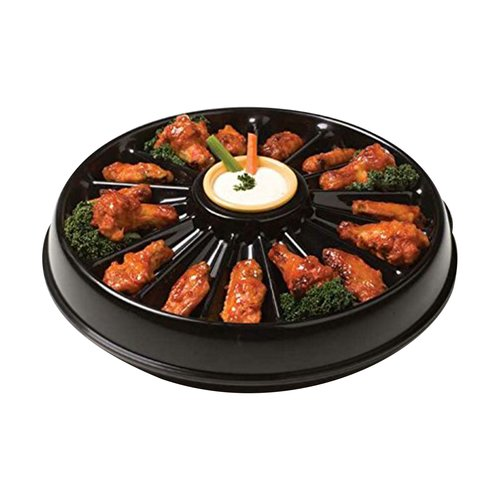 Snack Daddy Chicken Wing Party Tray W/ Opening for Bones