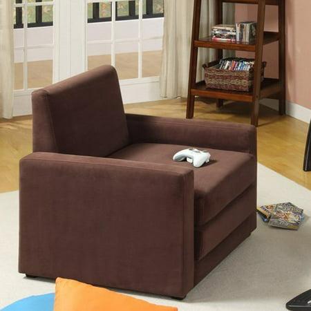 dhp dorel single sleeper chair brown. Black Bedroom Furniture Sets. Home Design Ideas