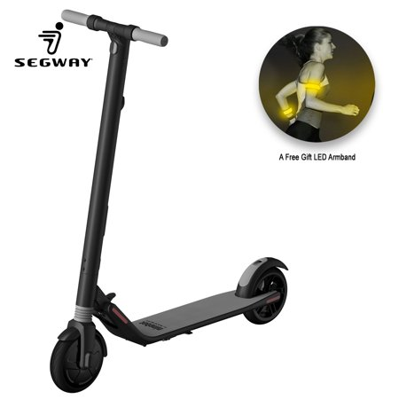 Ninebot Segway - ES1 KickScooter High-Performance 500W Foldable Electric Scooter, 15.5 Mile Range 12.4 mph Top Speed, Cruise Control Mobile APP, LED Light and Digital