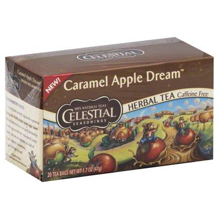 Caramel Milk Tea - Celestial Seasonings Herbal Tea, Caramel Apple Dream, 20 Count