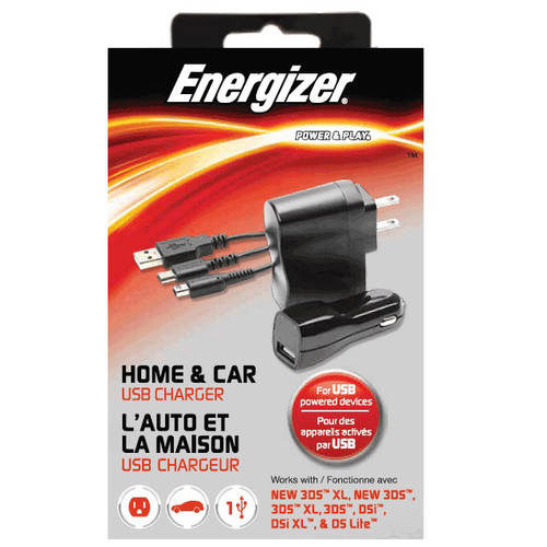 Energizer 3-in-1 Home, Car, & USB Charger