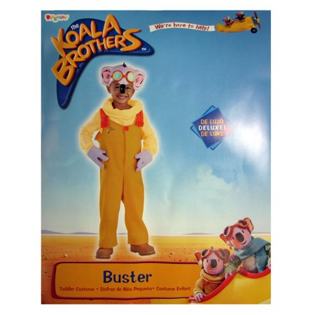 Disguise Toddlers The Koala Brothers Buster Deluxe Halloween Costume, Yellow, 2T - Brother And Baby Sister Halloween Costumes