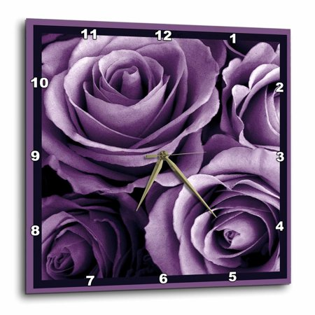 3dRose Close up of dreamy lavender purple rose bouquet, Wall Clock, 13 by 13-inch (Rose Clock Plate)