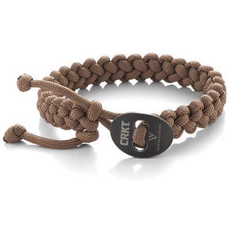 Columbia River Knife and Tool Scarvalas Quick Release Survival Bracelet, Small, Tan