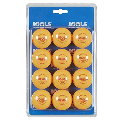 JOOLA 3-Star Table Tennis Training Balls, 40mm, Orange, 12ct