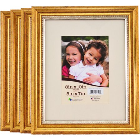 8x10 Matted Gold Picture Frames, Set of 4 - Walmart.com
