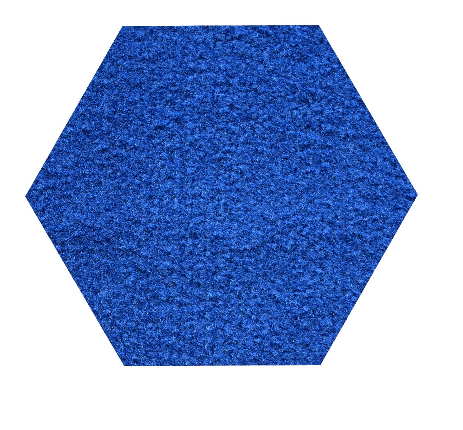 Color world collection pet friendly indoor outdoor area rugs with Rubber Marine Backing for Patio, Porch, Deck, Boat, Basement or Garage with Premium Bound Polyester Edges Blue 4' Hexagon