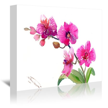 Americanflat  'Pink Orchids 1' Gallery Wrapped Canvas