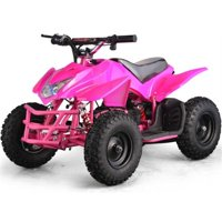 MotoTec 24V Kids Battery Powered ATV Four Wheeler Titan V5 Pink