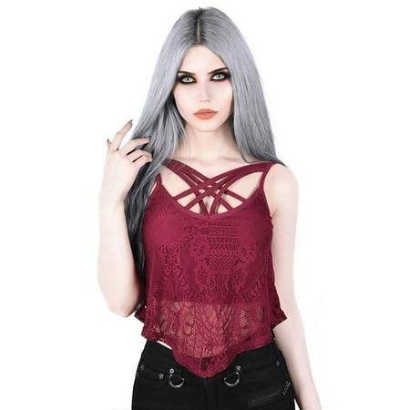 Women Fashion Goth Style Sleeveless Tank Tops