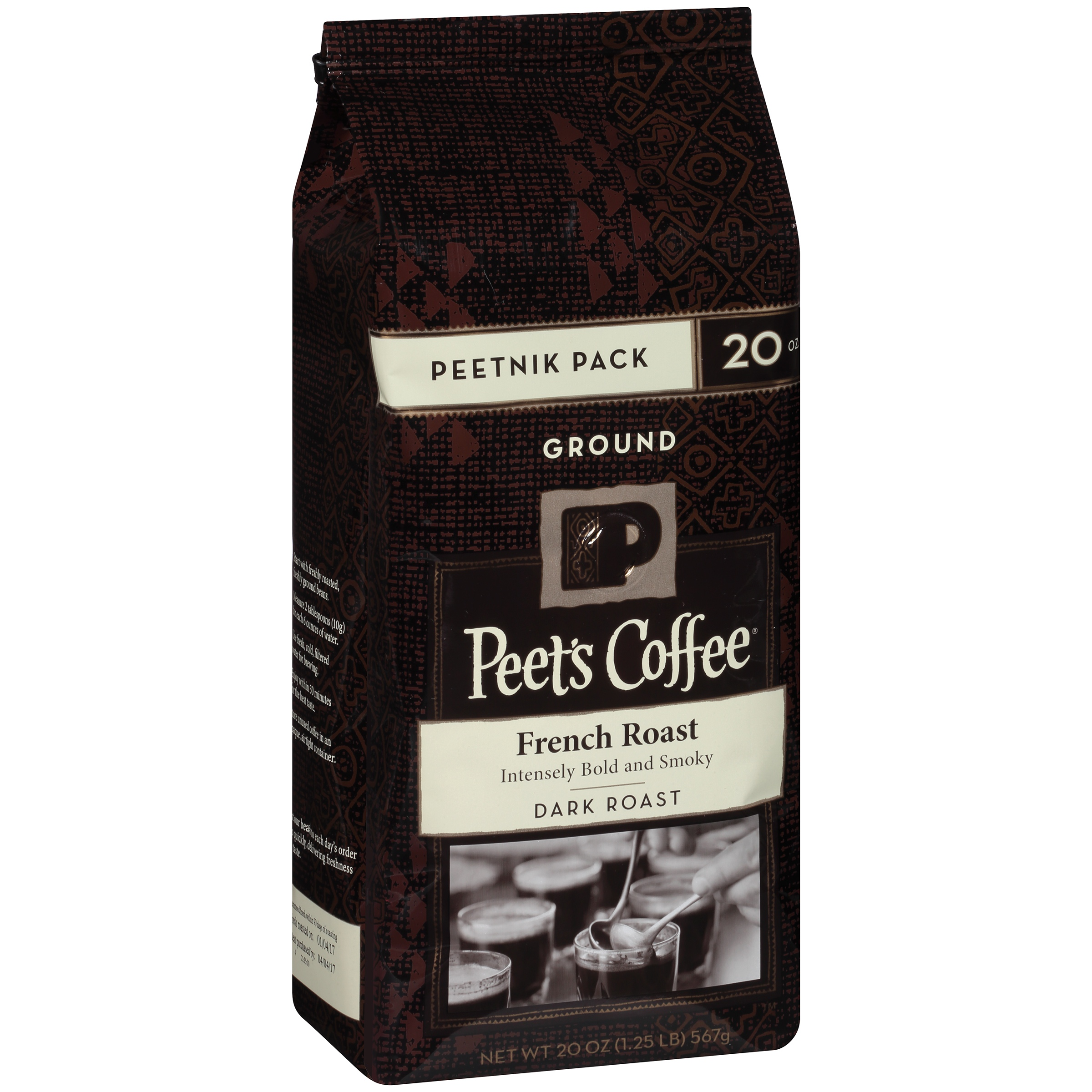 Peet's Coffee French Dark Roast Ground Coffee, 20 oz