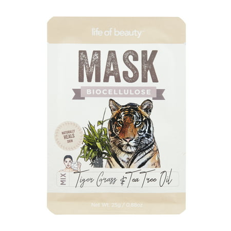 Life Of Beauty Bio-Cellulose Face Mask: Tiger Grass and Tea