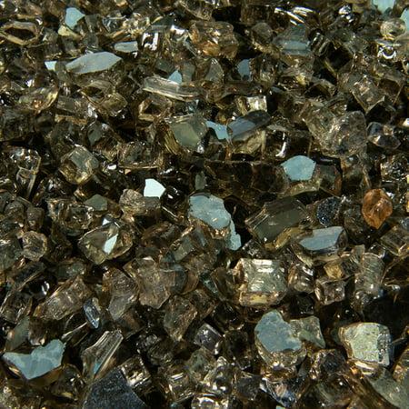 "Bronze Fire Pit Glass   1/4"", 10 lbs"