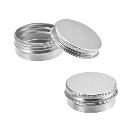 1/2 oz Round Aluminum Cans Tin Can Screw Top Metal Lid Containers 15ml 12pcs