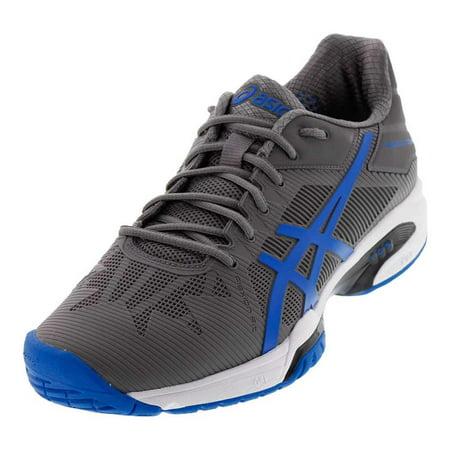 e81b63b7f53c ASICS - Men`s Gel-Solution Speed 3 Tennis Shoes Aluminum and Electric Blue  - Walmart.com