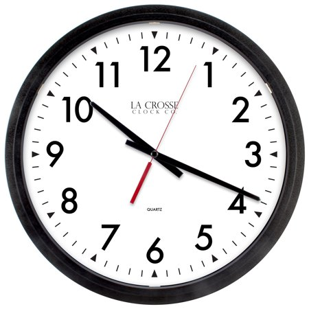 La Crosse Clock 404-2636 14 Inch Commercial Analog Wall Clock, (14 Inch Analog Wall Clock)