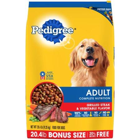 Pedigree Adult Grilled Steak And Vegetable Flavor Dry Dog Food 20 4 Pounds