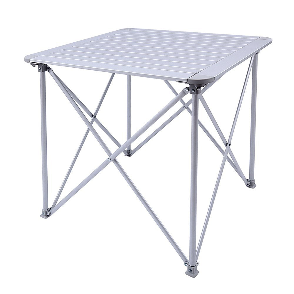 "KingCamp Aluminum Alloy Folding Camp Table Roll-Top Lightweight Portable Stable Versatile, 28""x28""x28\ by Kingcamp"