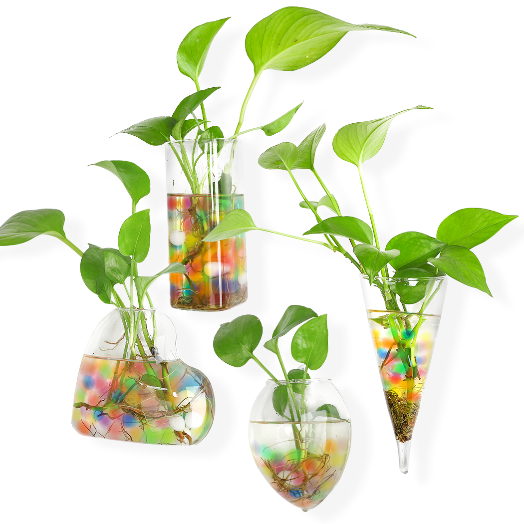 Coofit 4pcs Hanging Glass Vase Creative Plant Terrarium Plant Vase Fish Bowl For Home Walmart Canada
