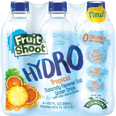Fruit Shoot Hydro Tropical Water Drink, 10.1 Fl. Oz., 6 Count