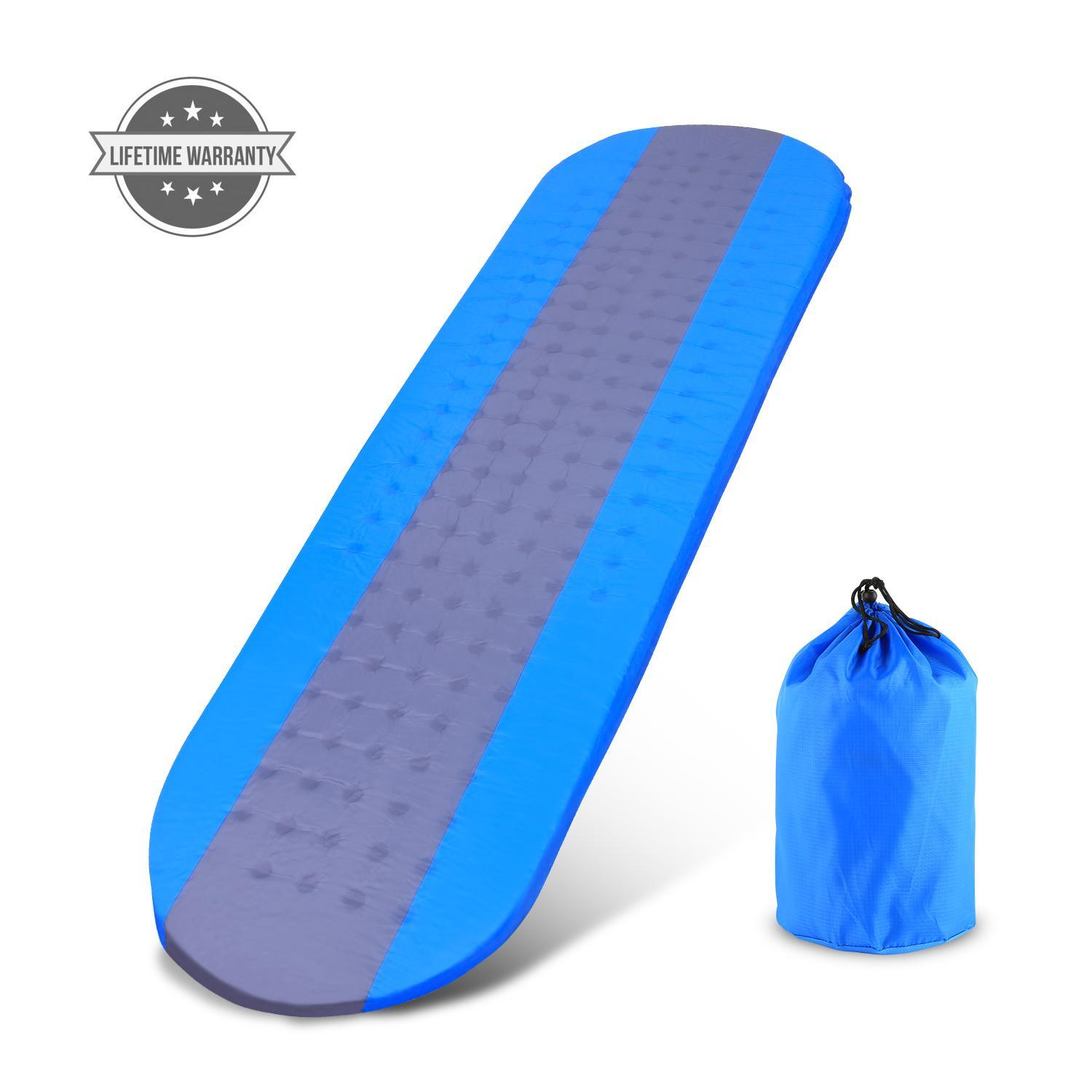 Premiu m Self Inflating Sleeping Pad Lightweight Foam Padding and Superiors Insulation Great For Hiking & Camping Thick Outer Skin