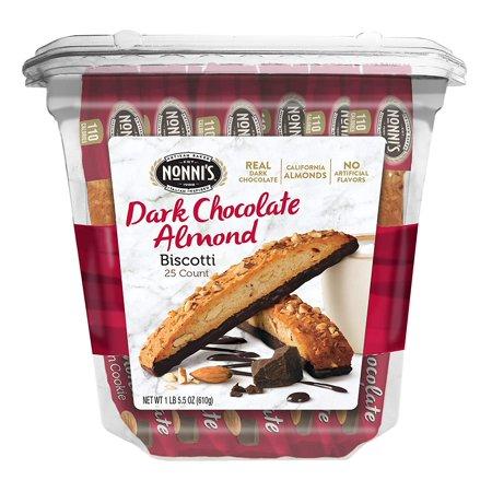 Biscotti Value Pack, Cioccolati Dark Chocolate Almond, 25 Count Nonni's - 1.34