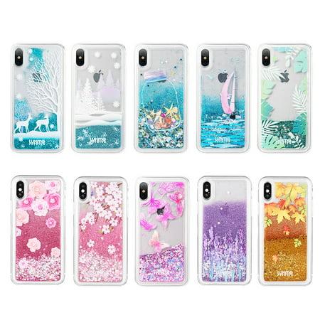 iphone xs max case glitter liquid