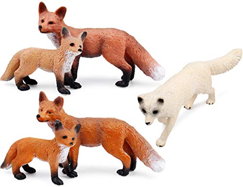 miniature  figure necklace forest style micro sculpture animal Red Fox pendant resin wood