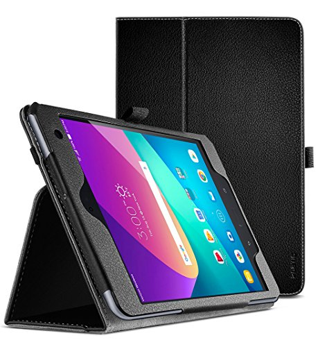 Asus ZenPad Z8S Case , Poetic SlimFolio Series - [SlimFit] [Professional] PU Leather Slim cover Stand Folio Case with Auto Wake / Sleep for Asus ZenPad Z8S Black
