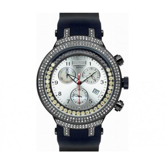 Joe Rodeo JJMS5(Y) Master Man Diamond Watch, Silver Dial with Black Band