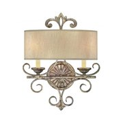 Savoy House Savonia 2 Light Sconce in Oxidized Silver