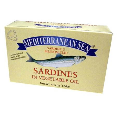 Sardines in Vegetable Oil (Mediterranean Sea) 124g