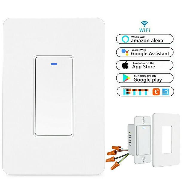 Smart Wi-Fi Light Switch Single-Pole Smart Wall switch