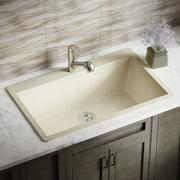 MR Direct Granite Composite 33'' L x 21'' W Drop-In Kitchen Sink with Basket Strainer