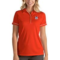 Houston Astros Antigua Women's Salute Polo - Orange/White