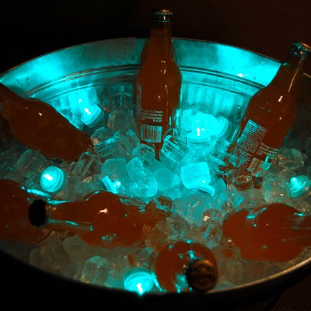 Club Pack of 12 Battery Operated LED Teal Waterproof Tea Lights ()