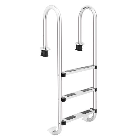 3-Step Swimming Pool Ladder Super-strong Stainless Anti-slip Inground Pools Easy assemble